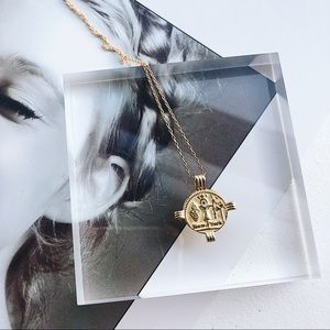 Jewelry - Sterling Silver Gold Plated Pendant Necklace